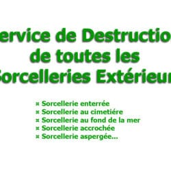destruction toutes sorcelleries